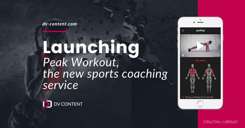 Mockup of Peak Workout App