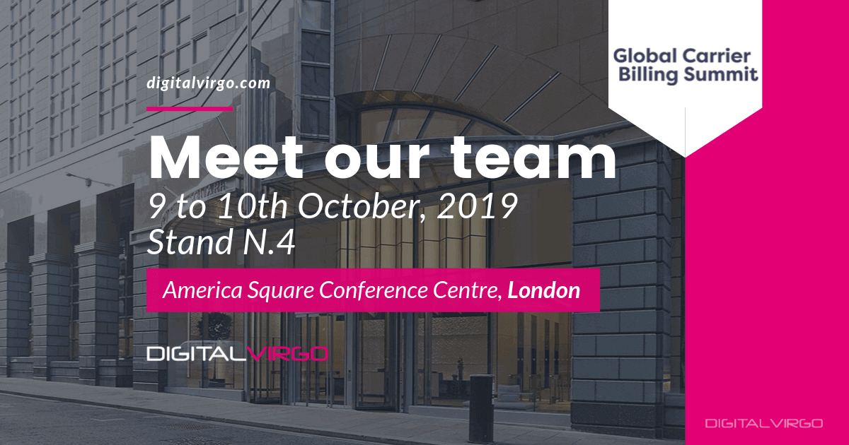 Global Carrier Billing Summit 2019 in London